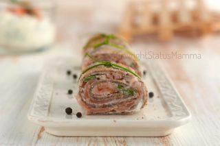 RICETTE di Natale dall'antipasto al secondo Rotolini di crepes con grano saraceno farciti al salmone