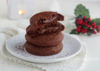 dolci di natale raccolta ricette Biscotti alla panna e cacao cuor di nutella