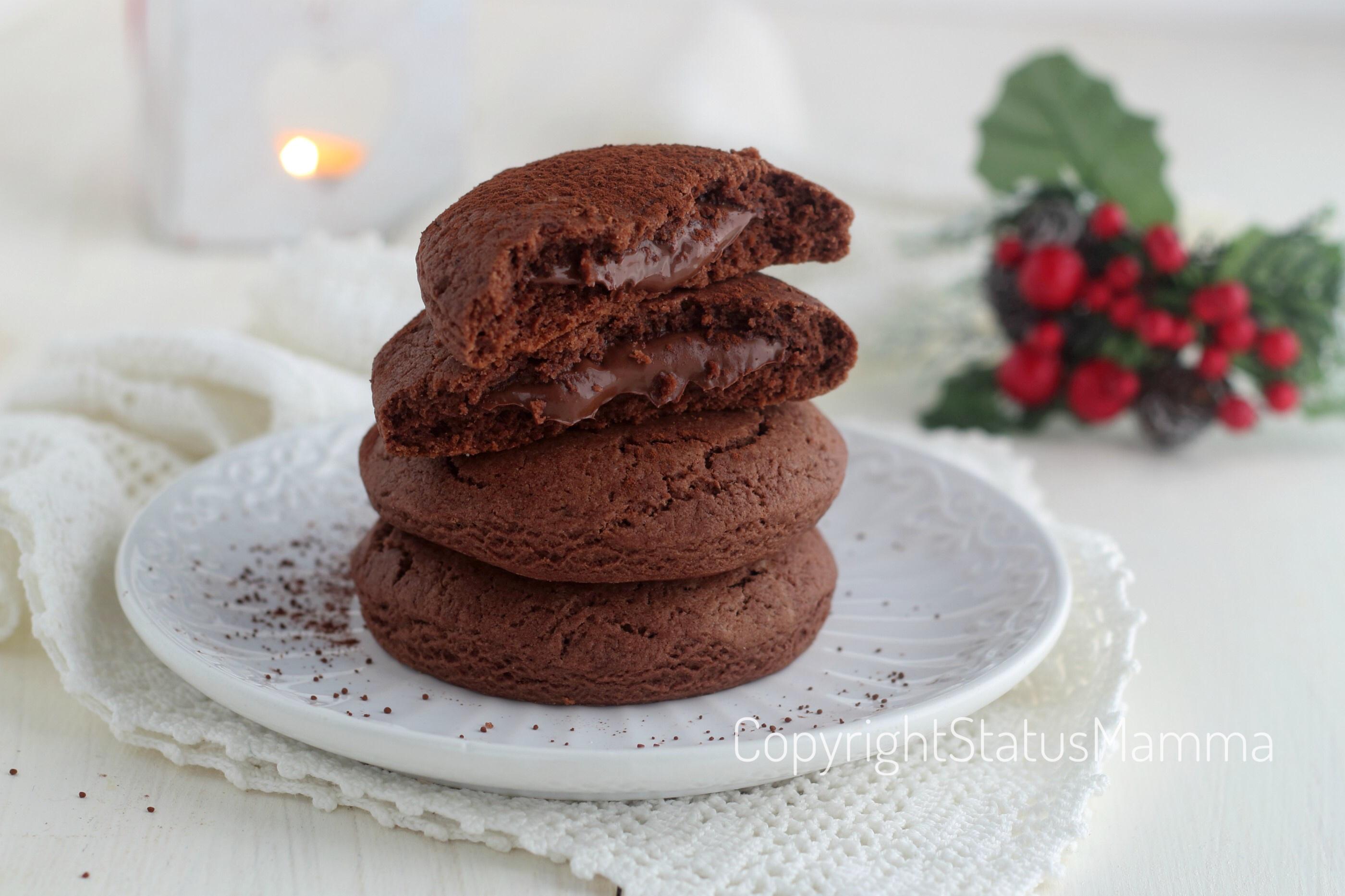Biscotti alla panna e cacao cuor di nutella