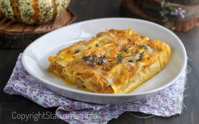 Cannelloni zucca, salsiccia e gorgonzola