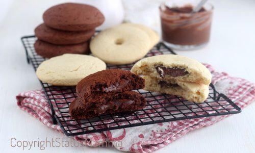 Tutorial biscotti alla panna con e senza cacao cuor di Nutella