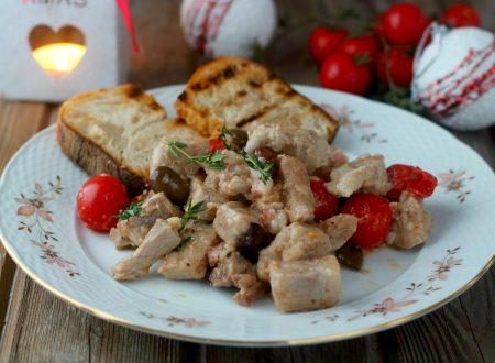 Bocconcini di lonza olive e pomodorini