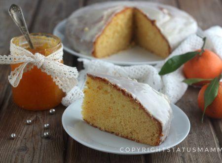 Torta soffice con marmellata e glassatura di clementine ricetta facile