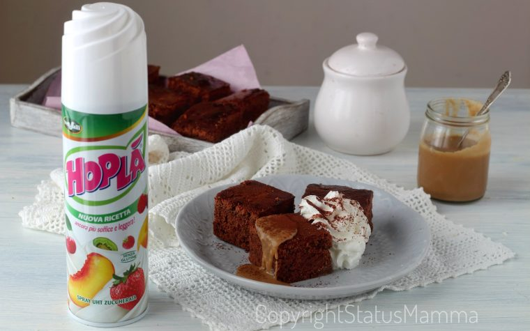Brownie al cioccolato e caramello salato