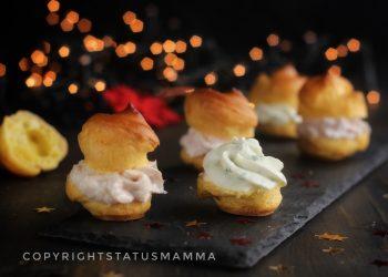 RICETTE di Natale dall'antipasto al secondo Bignè farciti con tre mousse diverse ricetta fingerfood veloce