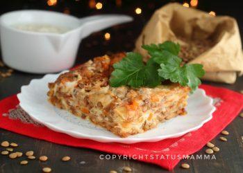 Le lasagne sono un formato di pasta molto versatile in cucina famosissimo, ecco una versione vegetariana gustosa con il ragù di lenticchie.