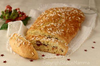 Frolla arrotolata ricetta Pinza di Natale dolce rivisitata