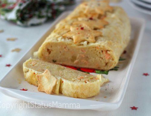 Polpettone al salmone in crosta di Natale