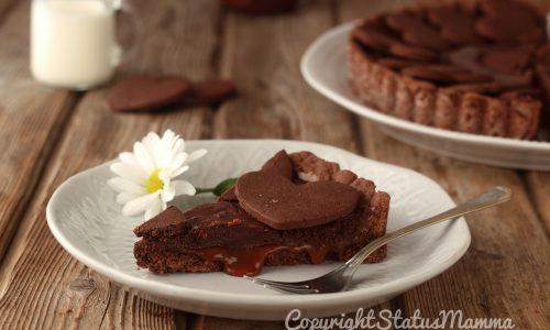 Ricetta della crostata al caramello salato e ganache al cioccolato