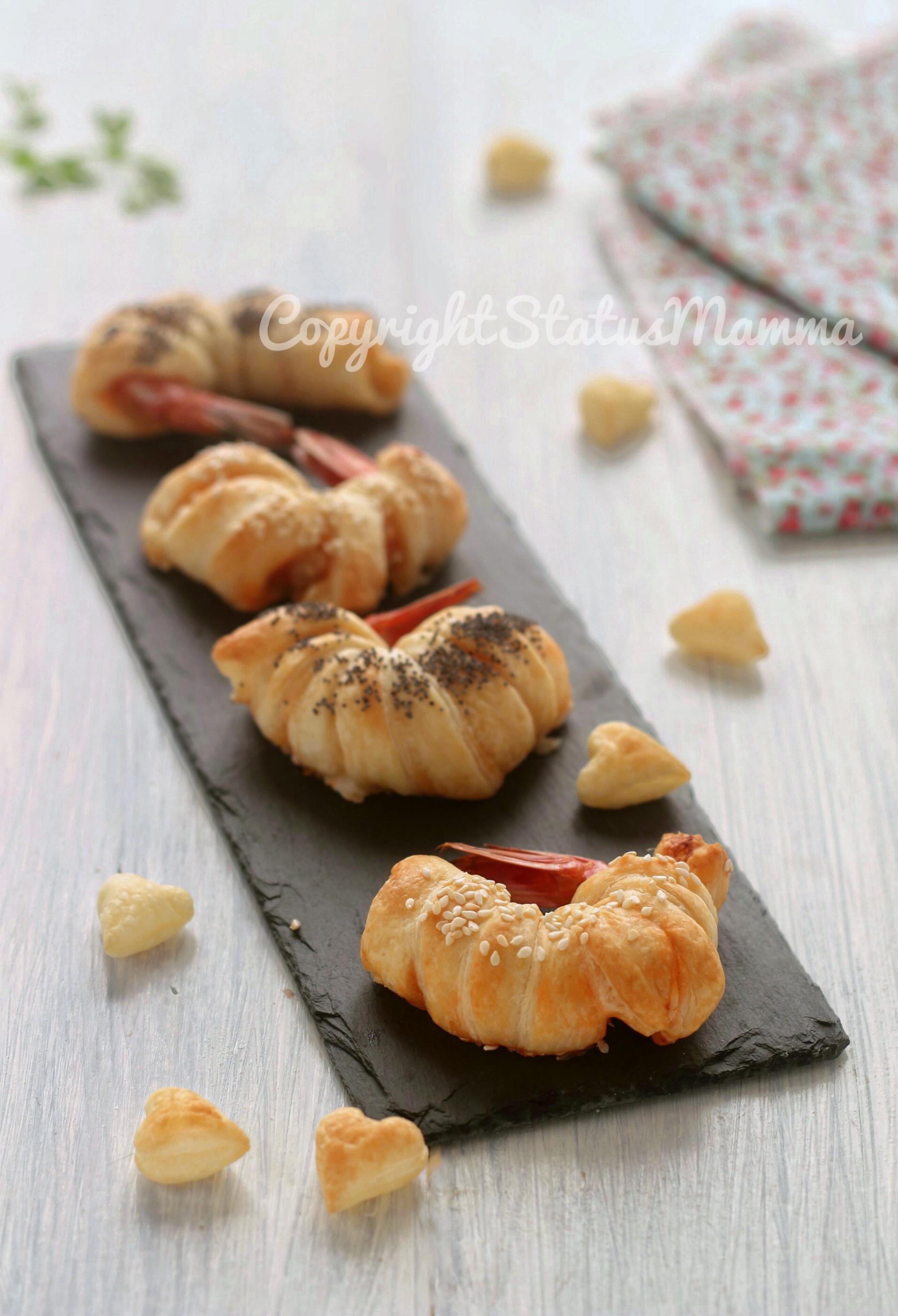 Gamberi in pasta sfoglia facile veloce
