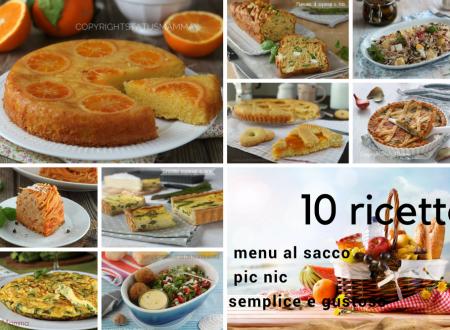 10 ricette per il tuo menu al sacco per un pic nic semplice e gustoso