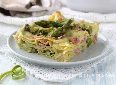 Lasagne agli asparagi e prosciutto cotto facile e veloce