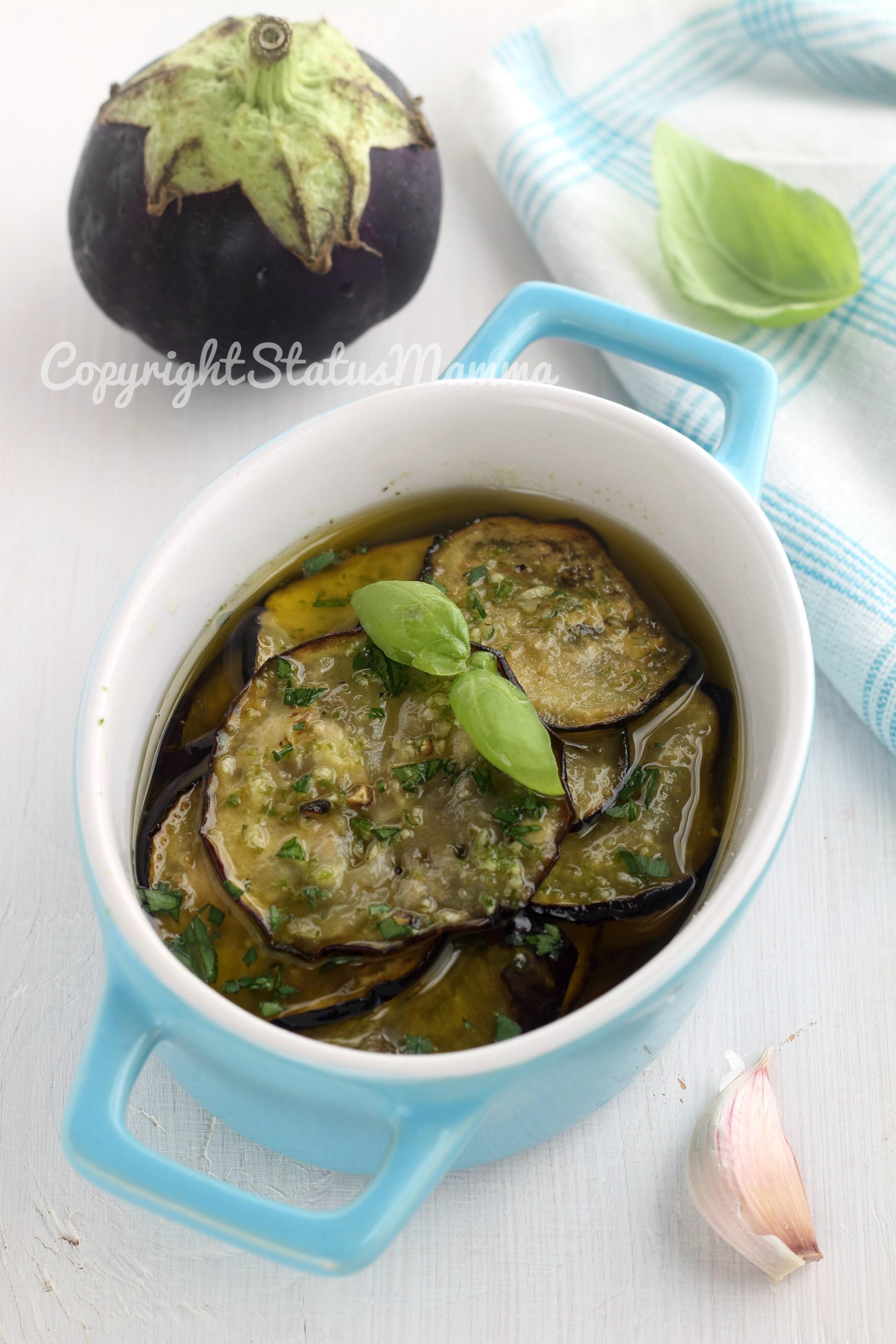 Ricetta delle melanzane marinate alla poverella facile e sfiziosa
