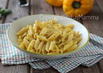 Pasta con crema ai peperoni senza panna : ricetta facile