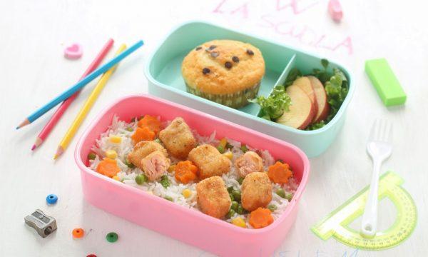 Pranzetto d'asporto per la scuola,  dal primo al dolcetto