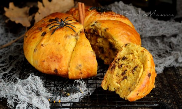 Pan brioche alla zucca di Halloween soffice