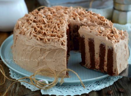 Torta girella al cacao cremosa al caffè – ricetta veloce