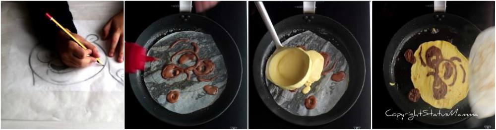Kung fu panda pancake con purea di mele – tutorial facile