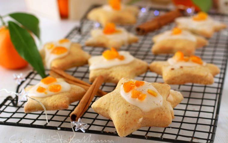Biscotti Stelline cannella e mandarino glassate