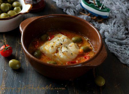 Baccalà alle olive con pomodorini