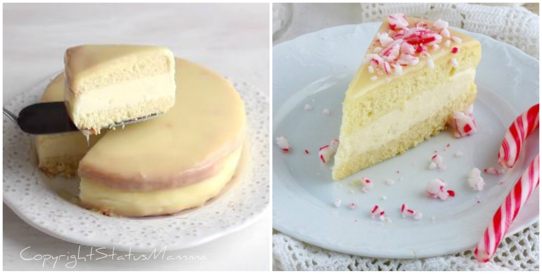 Candy Cane Cake alla crema bavarese
