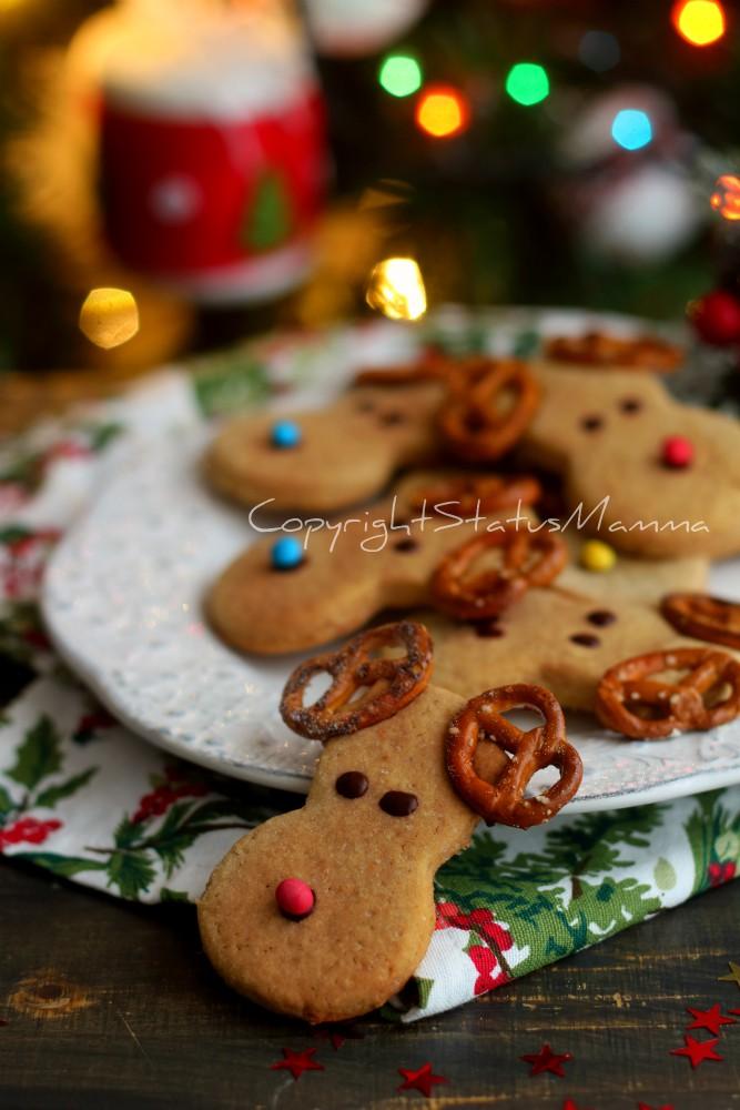 Biscotti a forma di renna Rudolph di Babbo Natale