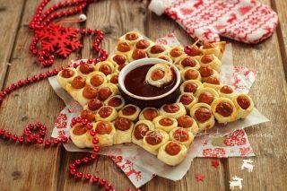 RICETTE di Natale dall'antipasto al secondo Stella di Würstel e pasta sfoglia ricetta antipasto veloce