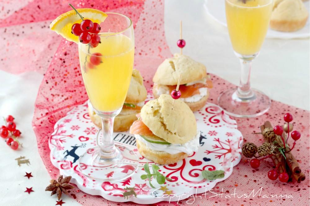 Cocktail con succo d'arancia fresco e sfizioso