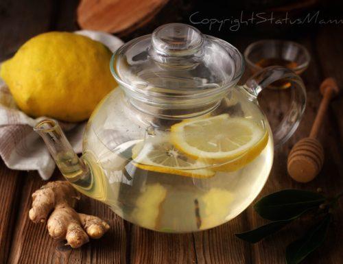 Tisana detox limone e zenzero