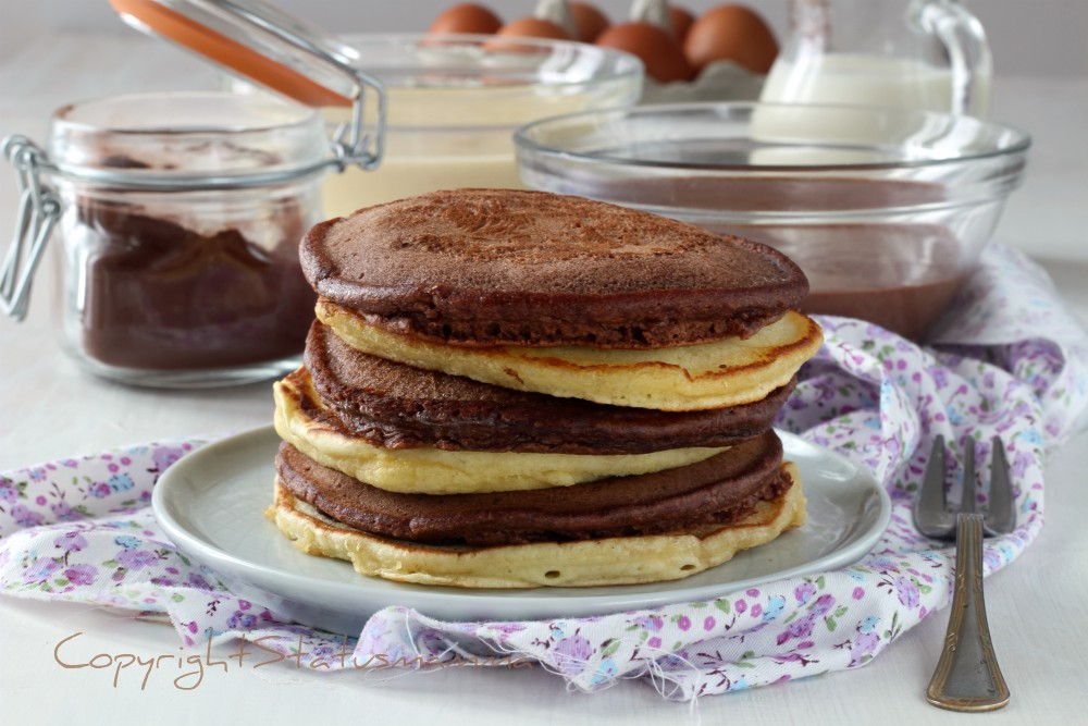 Pancake ricetta base anche alle cacao