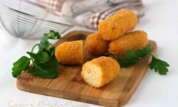 Crocchette con patate e salmone