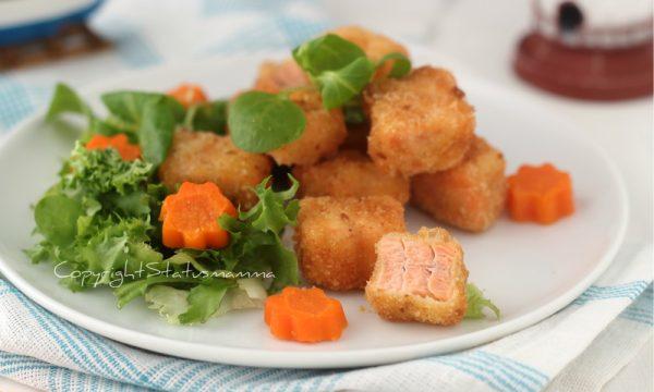 Bocconcini di salmone impanato