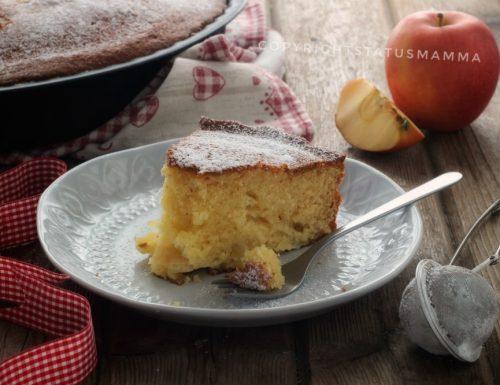 Torta sofficiona alle mele da preparare e infornare in 5 minuti