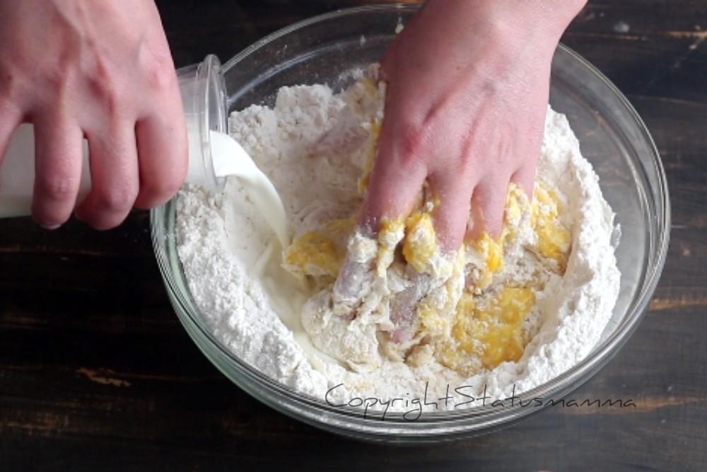 Impasto base alla panna per fritti carnevale