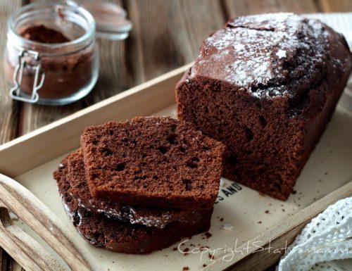 Plumcake al cacao e yogurt alto e sofficissimo