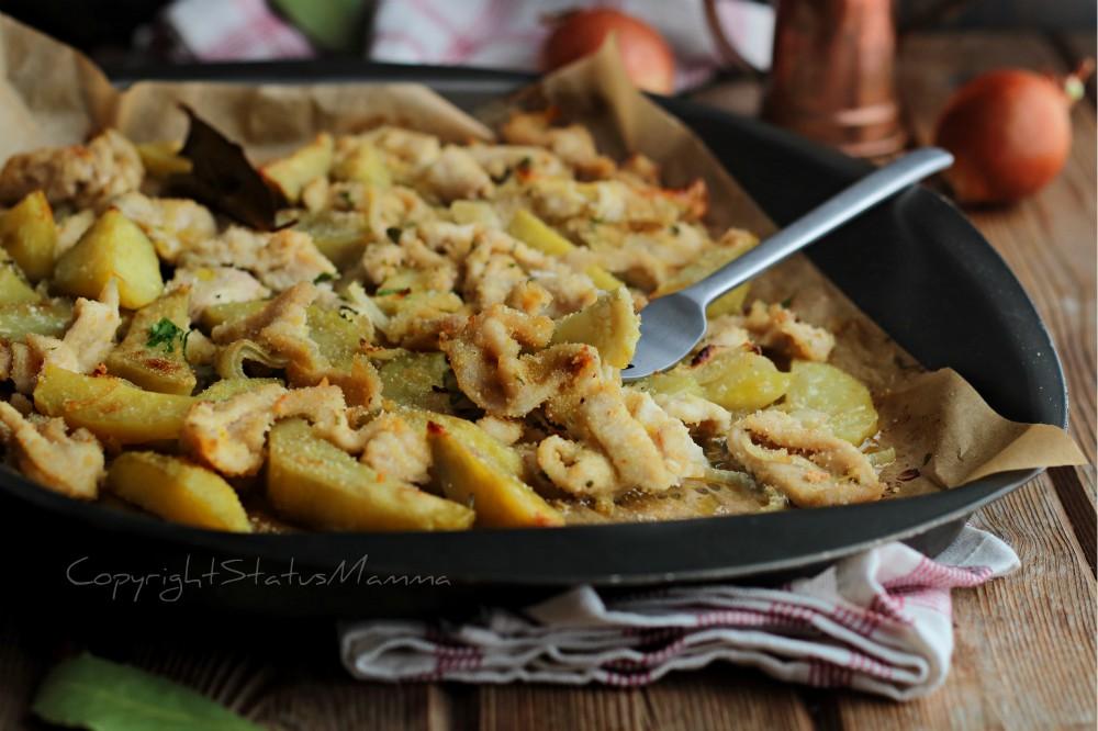 Straccetti pollo e patate al forno dal risultato tenero e succulento