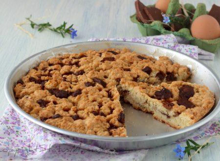 TORTA COOKIE – torta biscotto veloce con scaglie di cioccolato