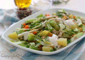 RICETTE INSALATE ESTIVE SFIZIOSE INSALATA LIGHT DI POLLO con patate e verdure