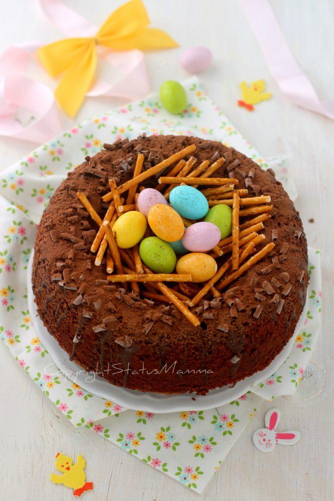 CIAMBELLA A NIDO di Pasqua ricetta creativa