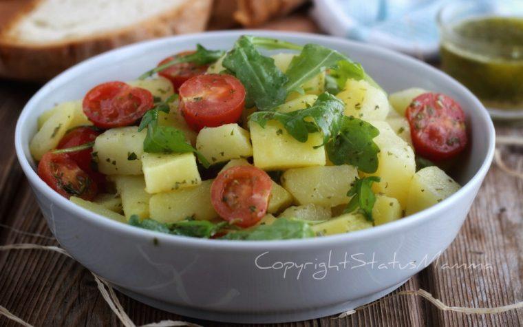 Come fare un insalata di patate e pomodorini da leccarsi i baffi.