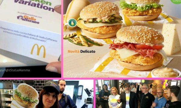 Arrivano le nuove McChicken Variation di McDonald's e GialloZafferano