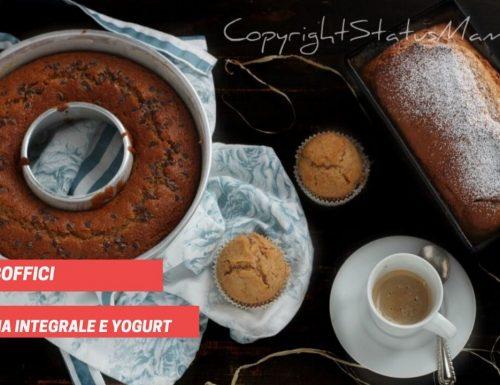 3 ricette dolci con farina integrale e yogurt facili