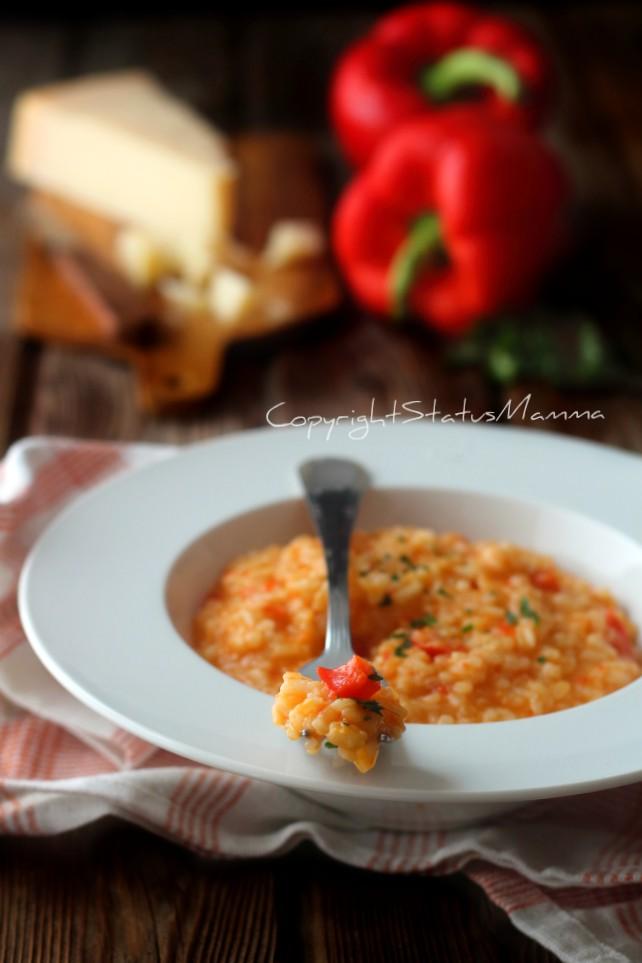 Risotto ai peperoni e parmigiano ricetta anche bimby