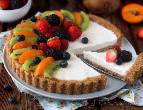 CROSTATA SENZA COTTURA alla frutta con yogurt e ricotta
