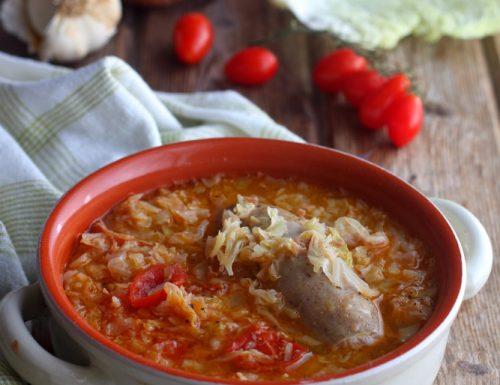 Zuppa di Verza e Salsiccia anche bimby