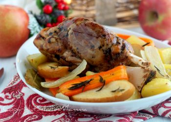 STINCO ALLA BIRRA con mele patate e carote