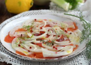 carpaccio di salmone e finocchi