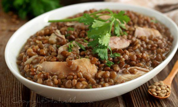 POLLO E LENTICCHIE ricetta morbida e appetitosa