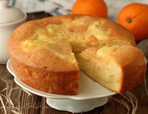 TORTA NUA con crema all'Arancia che non affonda o secca in cottura