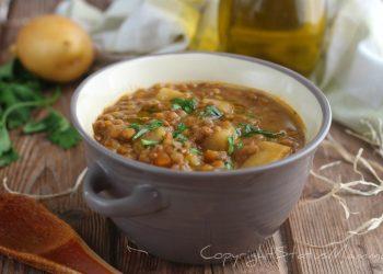 ricette con i legumi LENTICCHIE E PATATE ricetta zuppa con il bimby